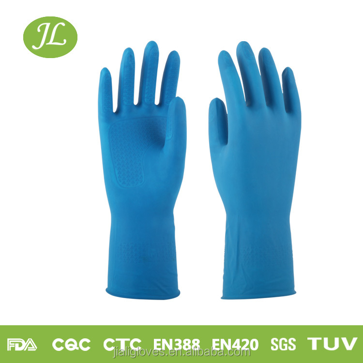 30cm warm Latex cleaning Gloves/ rubber gloves with cotton lining inside/ long cuff latex household gloves