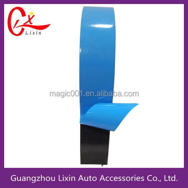 Blue film double sided PE foam adhesive tape