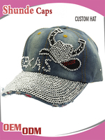 2016 Cowboy hat rhinestone decorated cap and elastic fitted baseball caps