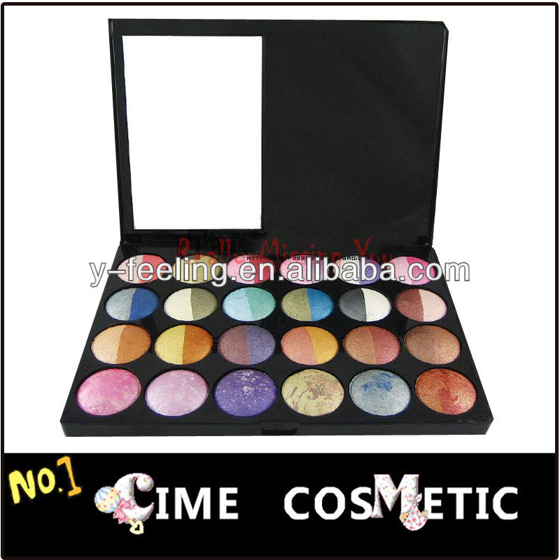 Hot! 24 Mix Color Mineral Bake Wet/Dry Make Up Eyeshadow Palette Set