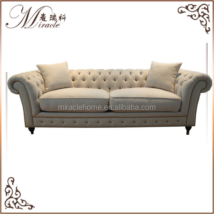 Latest design living room furniture chesterfield linen <strong>sofa</strong>