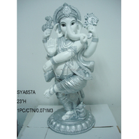White color modern art resin ganesha statue for sale