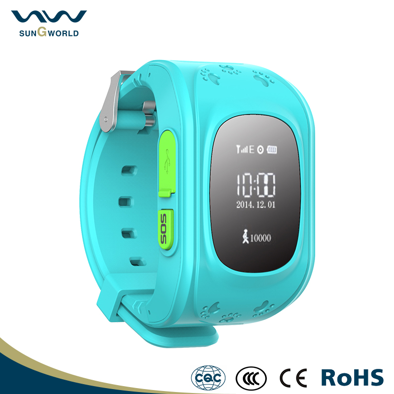Intelligent Multi-function SIM slot support kids tracking GPS watch