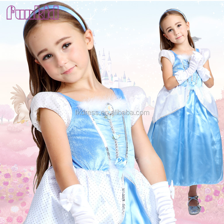 OEM Girls Halloween Fancy Flower girl Cinderella Dress Princess Costume Bulk