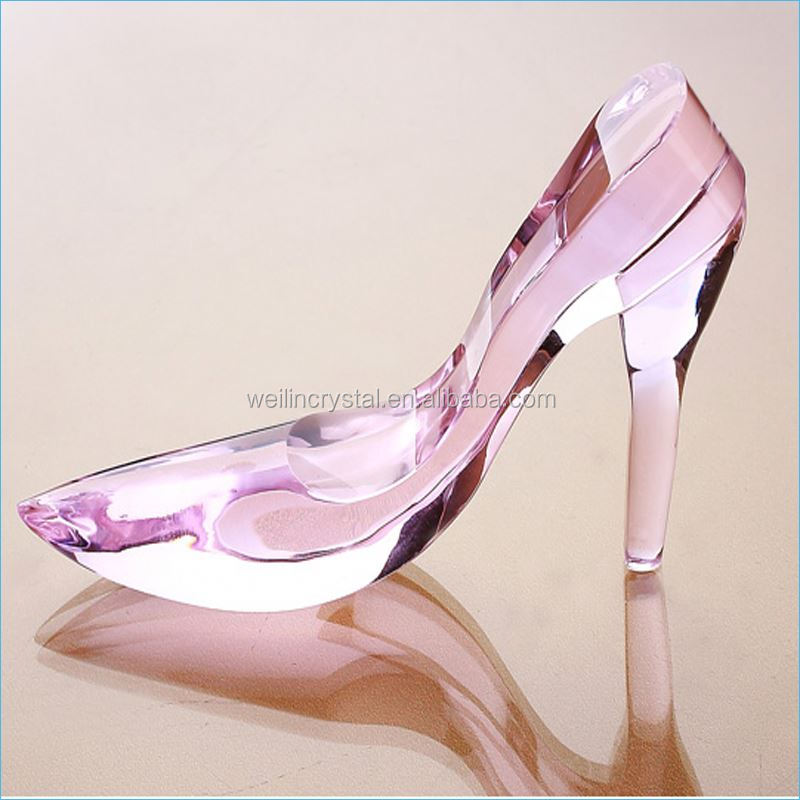 2017 Colorful vogue personalize crafts optical k9 crystal shoe s