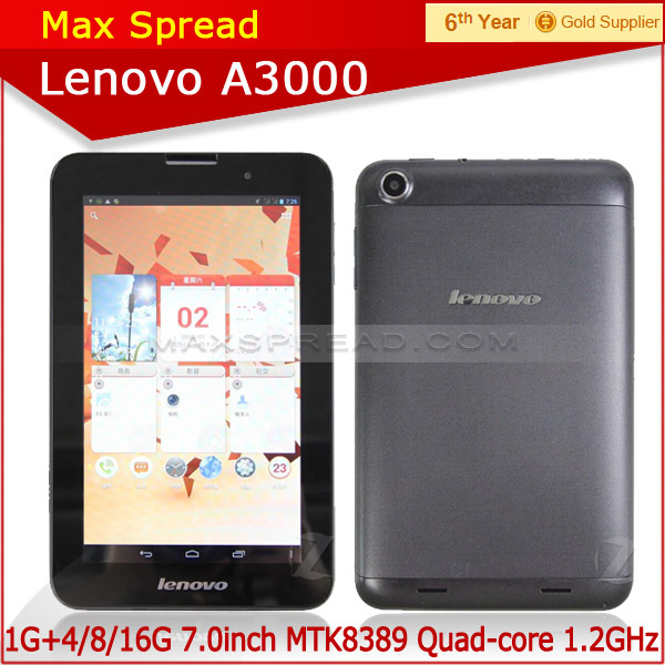Lenovo A3000 Tablet PC quad core MTK8389 Bluetooth 7.0inch lenovo tablet pc