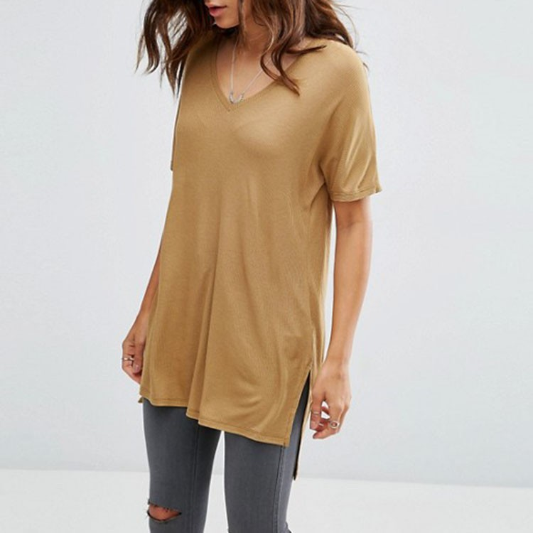 ATS196 Fashion Manufacturer Ladies T-Shirt Print Design Plain Loose Fit 100%Cotton Most Popular Color T-shirt