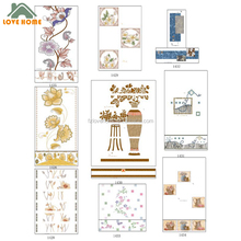tableware pattern ceramic wall tiles and borders