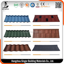 Aluminun zinc stone coated metal roof tile machine make quality roofing tile