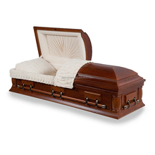Hand carved funeral coffin factories for the deceased cheaply sale wood cloth casket