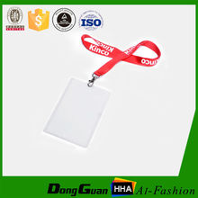 Cool style cheap price polyester silk screen printed id badge and lanyards