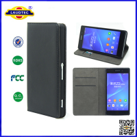 Premium Leather Flip Stand Case Cover Wallet for Sony Xperia Z2