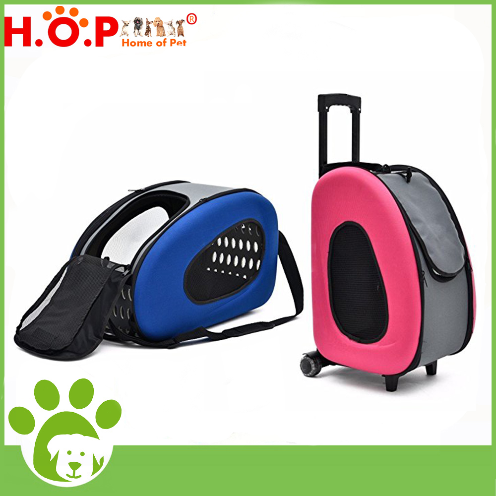 2017 Online Shopping Chinese Supplier Travel Dog Carrier Folable Backpack Roller Pet Trolley Bag With Wheels