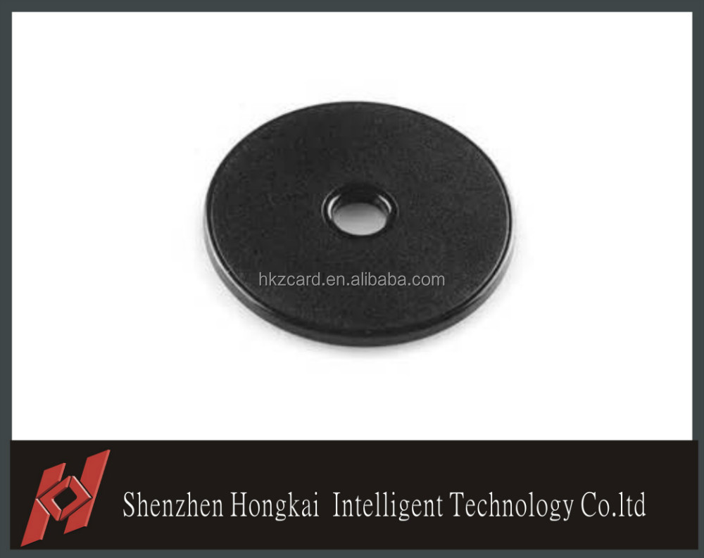 ABS waterproof and dustproof 30mm disc tag with an adhesive layer for quick fixing