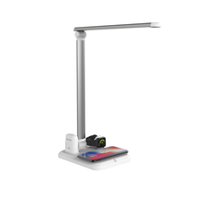 360 Flexible Tube Desk Touchable LED Table Lamp Wireless Charger for Apple Watch Earphone <strong>Mobile</strong> <strong>Phone</strong>