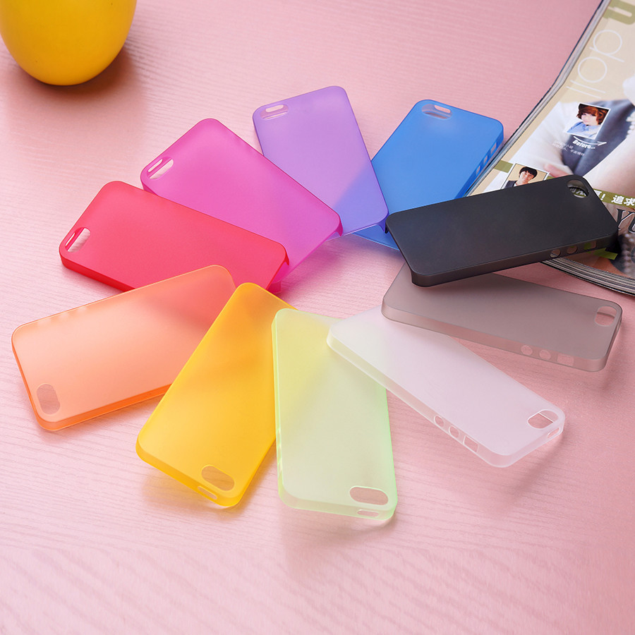 0.26mm ultra thin Slim Matte Transparent Guard soft plastic back case cover skin for iPhone 5 5s