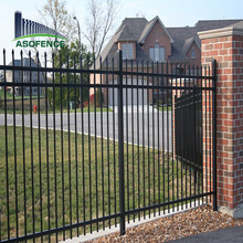 Cheap Wrought iron spear top Steel palisade Security Fence