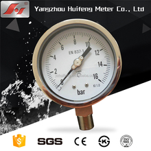 "4"" Y100 100mm High quality all stainless steel WIKA DIN bayonet ring laser welding pressure gauge"