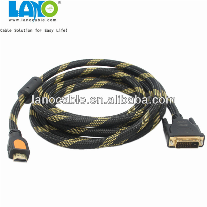 Factory Wholesale custom length HDMI to DVI cable With metal plug
