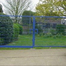 Easily assembled security double leaf swing wire mesh fence gate