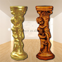 Frp Decoration Roman Column/pillar PU Roman Column lighted wedding columns