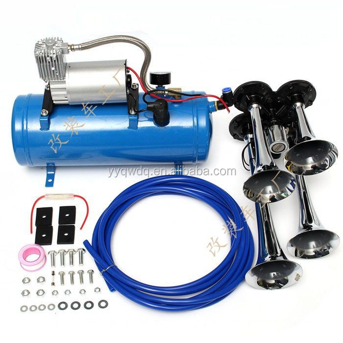 DC 12v air horn compressor with 6L/8L tank made in China