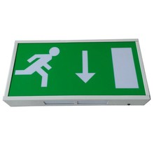 Wall Mounted LED Exit Sign Emergency Lamp with Batteries
