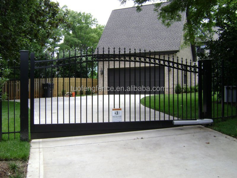 walk Gates Arched Gates metal gate/ Factory Wholesale Used Beautiful House Main Wrought Iron Gate/Steel Driveway Gate Grill