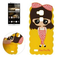 Cartoon Lovely Soft Silicone Smart Cover Case for Huawei Ascend Mate 7 Case