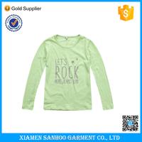 Child Girl Printed Long Sleeve T-shirt Cotton High Quality Kids T Shirt Wholesale Custom T Shirt For Children