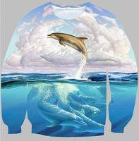 MSS242 autumn 2015 latest Overpass landscape pattern printing Lovers sweatshirt 3D hoodies Top