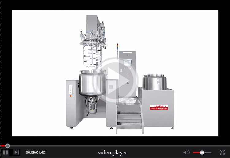 Vacuum Emulsifying Mixer Cream Making Machine Vacuum Homogenizing Tank