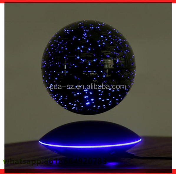 Promotion gift toys magnetic floating globe 6 inch with led light for children