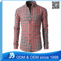 Fancy Simple Design Formal Dress Men's Check Shirts