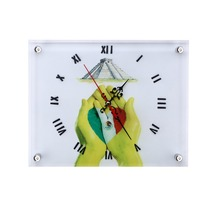Hot Selling souvenir wooden art painting promotional desk table clock