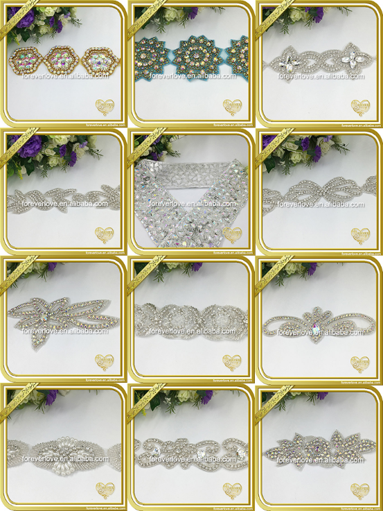 Different Style Crystal Rhinestone Applique for heads decoration FRA-076