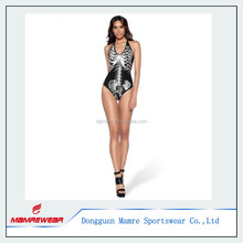 OEM design sports printing shiny mature swimsuit fitness beachwears sexy sample swimwear