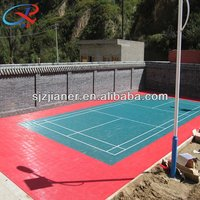 Good quality hot sale environmental-friendly 100% pp interlocking badminton court sports flooring