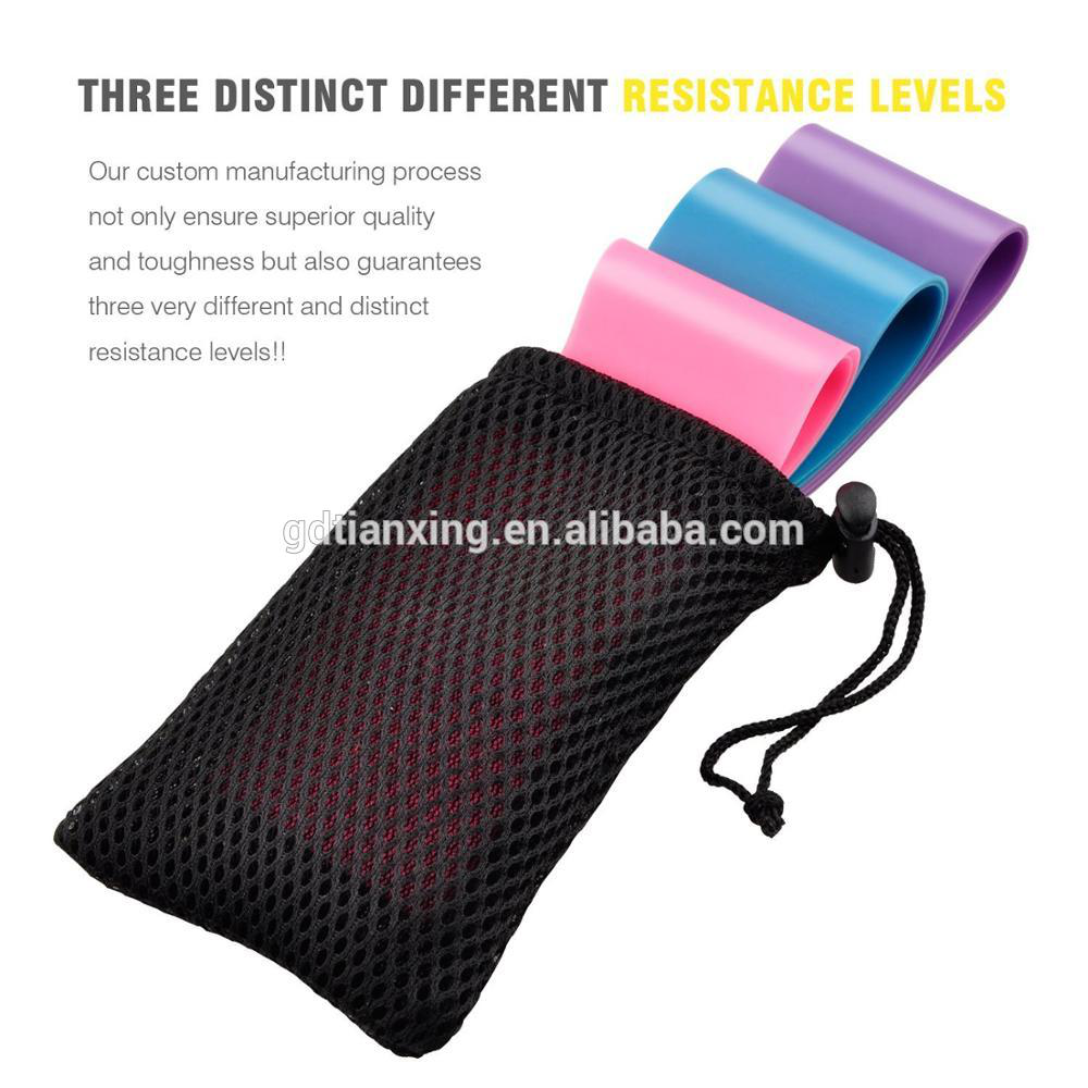 Natural Elastic Latex Mini Pilates Resistance Loop Bands
