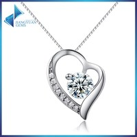 wholesale fashion jewelry large silver heart necklace for women