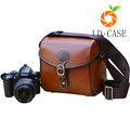 good quality wholesale price Digital Leather Camera Case Bag with Strap