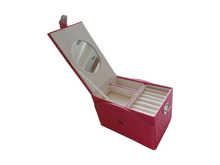 Top Grade Red Leather Jewelry Gift Paper Case