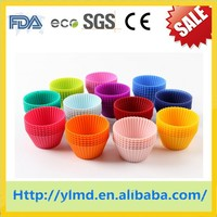 100% Food Grade Hot Sell Single Silicone Mini Muffin Cups/cup cake maker/muffin cups