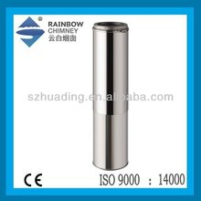 CE Stainless steel adjustable chimney flue pipe for stove chimney and fireplace chimney
