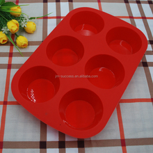 2016 DIY food grade silicone 6 holes heat resistant cake mould
