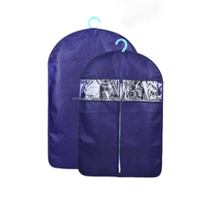 Custom Printed Non Woven Clothes Dust Cover Travel Foldable Garment Suit Bag