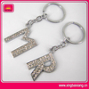 Hot-sale high quality metal M letter key chain ring manufacturer