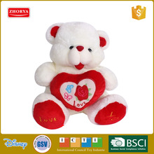 2016 soft plush bear toy with heart pillow custom plush toy stuffed animal bear plush toy