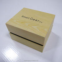 Custom Design Fancy Eco-friendly Wood Grained Paper Rigid Box with Foam for Watches