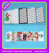 JESOY Plastic Phone Case Cover 2D For Sublimation, For Samsung Galaxy S6 Blank Sublimation Case With Aluminum Insert